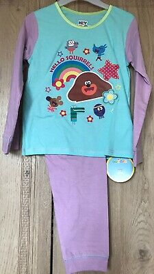 Girls Hey Duggee Pyjamas Pjs Set Age 4-5 Years Winter Gift Present Long Sleeved
