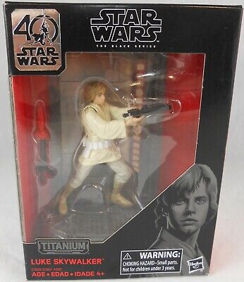 Hasbro Star Wars The Black Series Titanium Luke Skywalker Action Figure 03 NIB