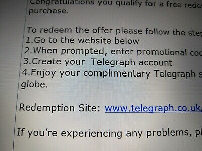 Telegraph 3 Month All DIGITAL ACCESS subscription