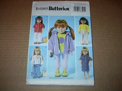 Reduced! BUTTERICK 4089 ADORABLE 18 inch DOLL CLOTHES