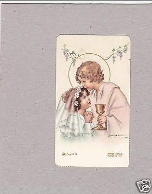 Vintage Catholic Holy Bible Prayer Card  Beautiful  Early 1940s  Made in Italy