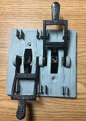 Gray Frankenstein Dual Light Switch Plate Cover Flip Handle W/ Black Toggles