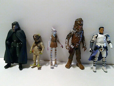 Star Wars Lot, *5 Figures* 3.75 Chewbacca Hasbro Kenner Clone Trooper