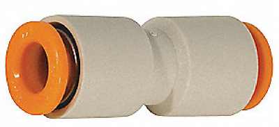 """SMC KQ2H11-00 KQ2 Series Air Pneumatic Fitting, Straight Union, 3/8"""", Pack of 10"""