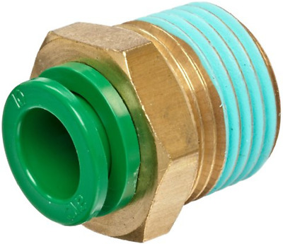 """SMC KRH08-03S KR Air Fitting, Male Connector, 8mm Tube, 3/8"""" Thread, Pack of 10"""