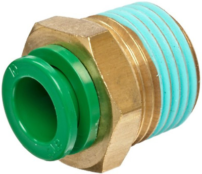 """SMC KRH10-03S KR Flame Resistant Air Fitting, Male Connector, 10mm, 3/8"""", 1 Unit"""