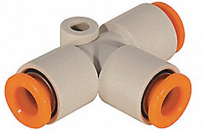 """SMC KQ2T05-00 KQ2 Pneumatic Air Fitting, Union Tee, For 3/16"""" Tubing, Pack of 10"""