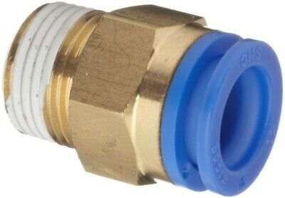 "SMC KQH10-04S KQ Pneumatic Air Fitting, Male Connector, 10mm, 1/2"", 1 Unit"