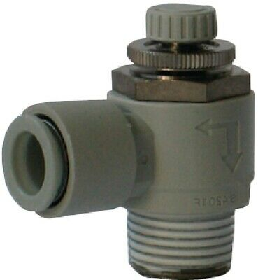 SMC Corporation AS4201F-04-12S Air Pneumatic Speed Flow Control Fitting, 1 Unit
