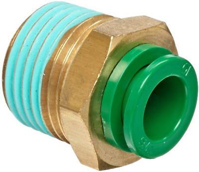 """SMC KRH10-01S Flame Resistant Air Fitting, Male Connector, 10mm, 1/8"""", 1 Unit"""
