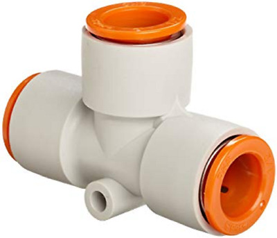 SMC KQ2T13-00 KQ2 Pneumatic Air Fitting, Union Tee, For 1/2 Inch Tubing, 1 Unit