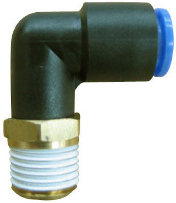 """SMC KQL04-02S KQ Air Fitting, Male Elbow, 4mm Tube, 1/4"""" Thread, Pack of 10"""