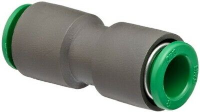 SMC KRH08-00 KR Series Flame Resisting Fitting, Straight Union, 8mm, Pack of 10
