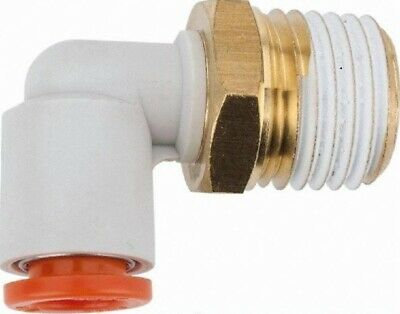 """SMC Corporation KQ2L11-37S Male Elbow Fitting, 3/8"""" NPT to One-Touch, Pack of 10"""