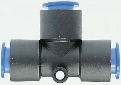 SMC KQT10-00 KQ Series Air Pneumatic Fitting, Union Tee, 10mm Tube, Pack of 5