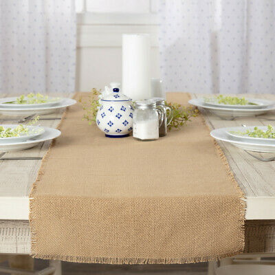 """Primitive Natural Burlap Table Overlay Rustic Country Wedding Baby Shower 48""""sq"""