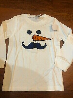 GYMBOREE HOLIDAY SHOP NAVY w// SNOWMAN Warm Wishes L//S TEE 12 18 24 2T 3T NWT