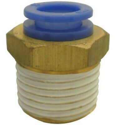 """SMC KQH04-02S KQ Air Fitting, Male Connector, 4mm Tube, 1/4"""" Thread, Pack of 10"""