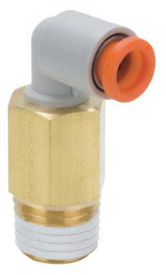 """SMC KQ2W07-35S KQ2 Fitting, Extended Male Elbow, 1/4"""" Tube and Thread, 1 Unit"""