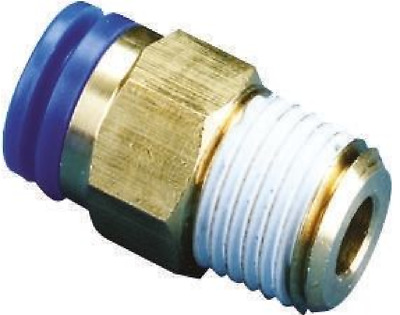 """SMC KQH04-01S KQ Air Fitting, Male Connector, 4mm Tube, 1/8"""" Thread, Pack of 10"""