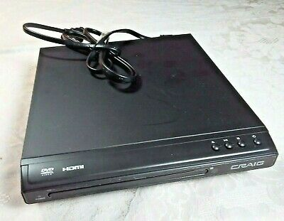 Craig HDMI DVD Player CVD401 TV Compact Home Video Movie Theater NO REMOTE