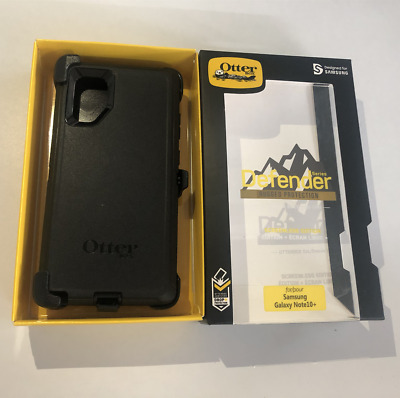 Original OtterBox Defender Series Case for Samsung Galaxy Note 10+ (Plus) BLACK