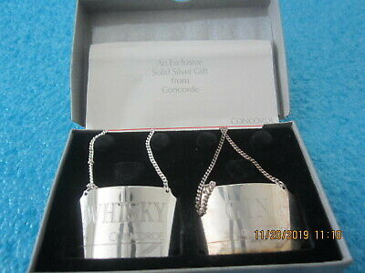 STERLING LIQUOR TAG WHISKY CONCORDE BRITISH AIRWAYS 10TH ANNIVERSARY AIRPLANE