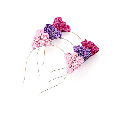 Baby Girl Headwear Hair Hoop Flower Headband Cat Ear Hairband Party Accessories