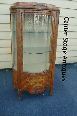 60690 Louis XV Satinwood and Bronze Curio China Cabinet