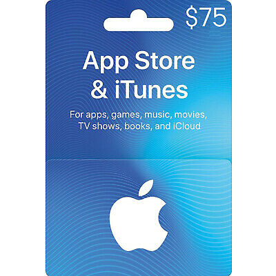 $75 Apple Store & Itunes Gift Card New Physical Card Free Shipping