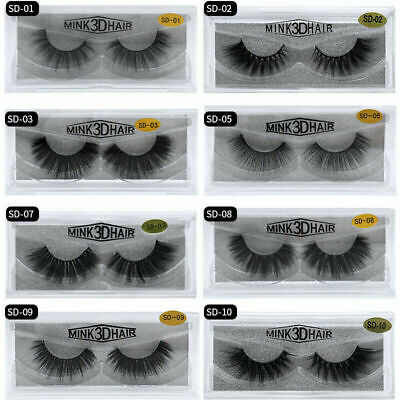 3D Natural False Eyelashes Soft Fake Long Thick Eye Lashes Mink Makeup