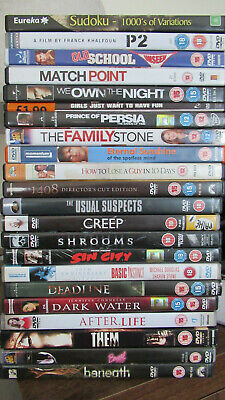 22 DVDs Movies Sudoku Mixed Genre Joblot Bundle Sin City Creep Usual Suspects