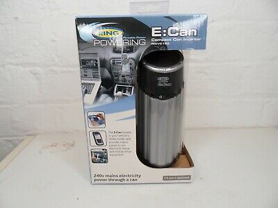 Brand Ring ECan In-Car Inverter Fits Drink Holder 120W