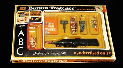 1972 Picam Button Fastener As Seen on TV! Original Box Vintage