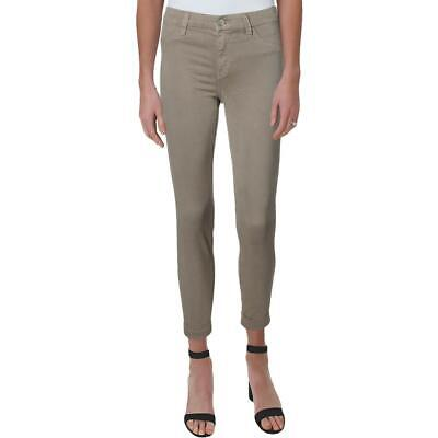 J Brand Anja Women's Mid-Rise Cropped Sateen Cuffed Skinny Pants