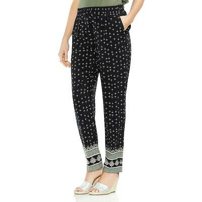 Vince Camuto Womens Printed Pull On Daytime Straight Leg Pants BHFO 8904