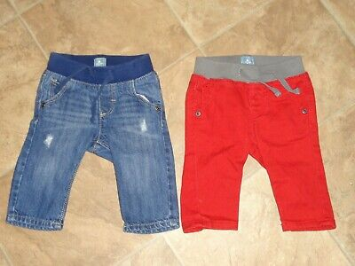 Baby Boys Gap Jeans Blue/Red Denim Size 3-6m
