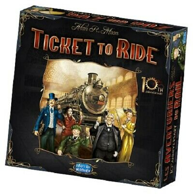 Ticket to Ride 10th Anniversary Edition Board Game Sealed New Days of Wonder