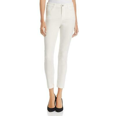 J Brand Womens Alana Ivory Velvet High Rise Casual Cropped Pants 27 BHFO 9606