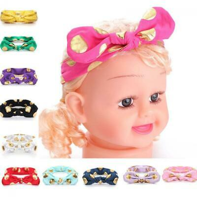 Baby Girl Dot Rabbit Cotton Toddler Headband Bow Knot Turban Hairband Headwear