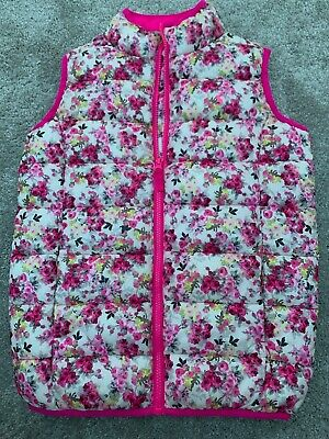 Joules Girls Floral Gilet Age 9-10