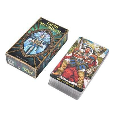 78pcs Tarot Illuminati Deck Cards (English ) For Family Party Game Full-color