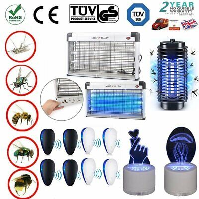 Electric UV Mosquito Fly Killer Ultrasonic Insect Zapper Pest Repeller Control