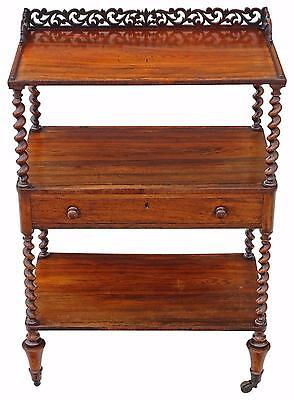 Antique quality William IV C1835 rosewood dumb waiter buffet serving table