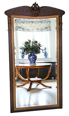 Antique very large fine quality Art Nouveau full height wall mirror C1910