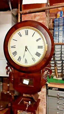 Antique Drop Dial fusee Wall Clock in good condition and working order