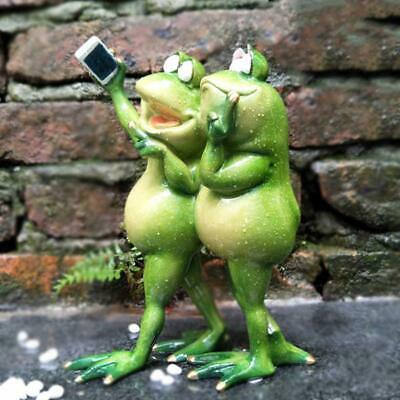 "Novelty Cute Frog Figurines- /""Playing Trumpet Frog/"" Desk Decor Sculpture 028"