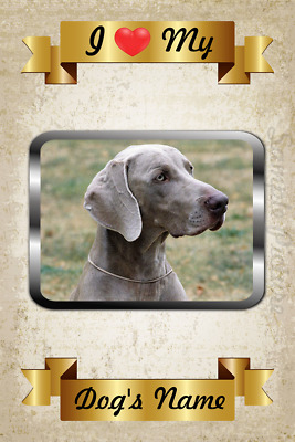"WEIMARANER I Love My Weimaraner 5.5 /"" Circle Car Truck SUV Fridge Magnet NEW"