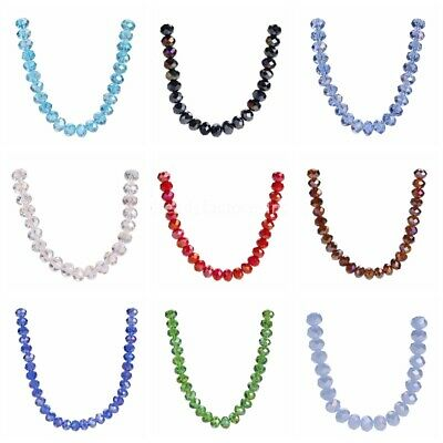 Lots Necklace 6mm Beads 100pcs Rondelle Loose Faceted Spacer Glass Crystal