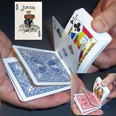 Color Joker Svengali Deck, Magic Card Trick, Bicycle Red or Blue, Short Long